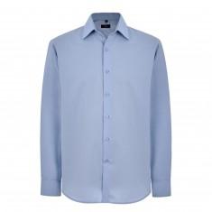 "Disley C131 Long Sleeve Blue Self Stripe Shirt - Size 16"""