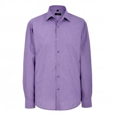 Disley TRILLICK Business Stripe Shirts-Semi Cutaway Men's Short Sleeve Shirt