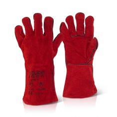 Beeswift C2W  Red Welder Gauntlet Glove (Pack of 60)