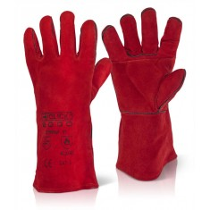 Beeswift C2WRP Red Welders Patch Palm Glove (Pack of 60)