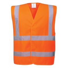 Portwest C470 Hi-Vis Two Band & Brace High Visibility Waistcoat - Size S/M