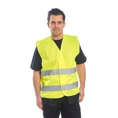 Portwest C474 Two Band High Visibility Waistcoat