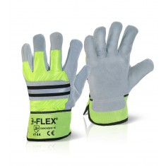 Beeswift CANCHQHV Canadian High Quality High Visibility Rigger Glove (Pack of 10)