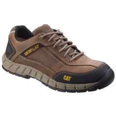Caterpillar Streamline Brown Leather Composite S1 Safety Shoe Trainer