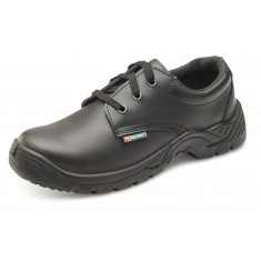 Beeswift Click CDDSTS Smooth Black Leather Tie S1 Safety Shoe