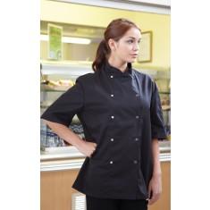Denny's DD08CS Economy Short Sleeve Chef's Jacket