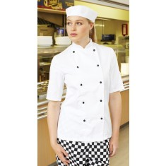 Denny's Lightweight Short Sleeve Chef's Jacket
