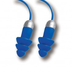 Moldex 6409 Rockets Blue Full Detect Cord Reusable Earplugs (Pack of 50)