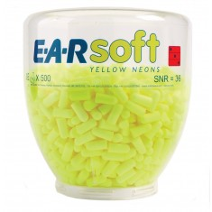 3M EARSNRB EAR Soft Yellow Neons Refill Ear Plugs (Pack of 500)