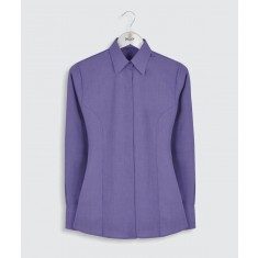 Disley Edie BH93 End on End Women's Long Sleeve Blouse - Size 12