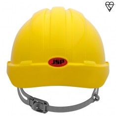 JSP AJH160-000 EVO3 Vented, Short Peak, One Touch Slip Ratchet Safety Helmet (Pack of 10)
