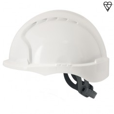 JSP AJG160-000 EVO3 Non Vented, Short Peak, One Touch Slip Ratchet Safety Helmet (Pack of 10)
