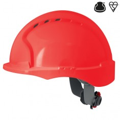 JSP AJH170-000 EVO3 Vented, Short Peak, Revolution Wheel Ratchet Safety Helmet (Pack of 10)