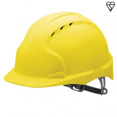 JSP AJF160-000 EVO3 Vented, Standard Peak, One Touch Slip Ratchet Safety Helmet (Pack of 10)