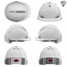 JSP AJB160-400 EVOLite CR2 , Vented, Standard Peak, One Touch™ Slip Ratchet  Safety Helmet (Pack of 10)