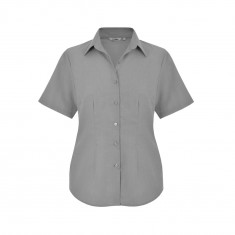 Disley FBH946 Classic Collar Oxford Women's Short Sleeve Blouse