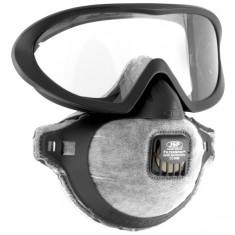 JSP AGE150-201-100 Filterspec Pro IDV Goggle Mask Combo Clear Mist- Resist+ ™ Anti-Mist Lens  FMP2Ov  Face Mask (Pack of 10)