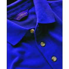 Henbury HB100 Classic stand up collar Short Sleeve Polo