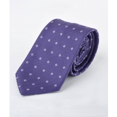 Disley Dot Purple Tie