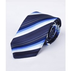 Disley Graduated Stripe Shades of Blue Tie