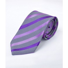 Disley Stripe Purple Shades Tie