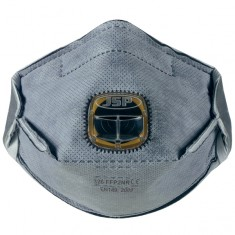 JSP BEY150-201 Horizontal Fold Flat Odour Mask FFP2 - 326 Typhoon Disposable Masks (Pack of 100)