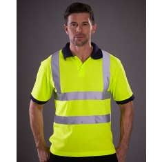Yoko HVJ210 Two Band & Brace High Visibility Polo Shirt