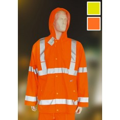 Yoko HVS450 High Visibility Breathable Waterproof Rain Jacket