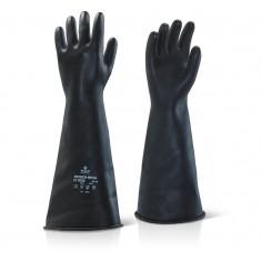 """Beeswift ILMW17 Industrial Latex Medium Weight 17"""" Gauntlet Glove"""
