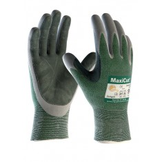 ATG MaxiCut Oil 34-450LP--B Palm Coated Leather Pad Cut 3 Glove (Pack of 12)