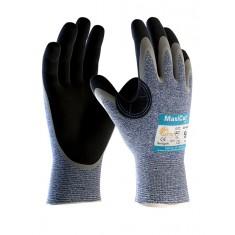 ATG MaxiCut Oil 34-504 Grip Palm Coated Knitwrist Cut 5 Glove (Pack of 12)