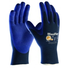 ATG MaxiFlex 34-244 Dotted Palm Coated Glove (Pack of 12)