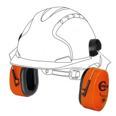 JSP AEK020-001-600 InterEXV Helmet mounted Ear compatible with MK7 & EVO Range  Defenders (Pack of 10)