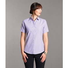 Disley IONA Short Sleeve Stripe Blouse with Classic Collar