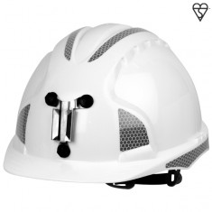 EVO3 AJE169-400-100  Miners CR2, Mid Peak, Non Ventilated, Slip Ratchet Safety Helmet (Pack of 10)