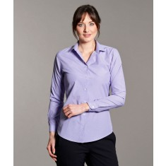 Disley KEIRA Classic Collar Check Long Sleeve Blouse