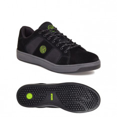 Sterling Apache KICK Black Suede S1P SRA Safety Trainer