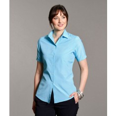 Disley KEIRA Classic Collar Check Short Sleeve Blouse