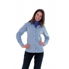 Uneek UC703 Ladies Pinpoint Oxford Long Sleeve Shirt