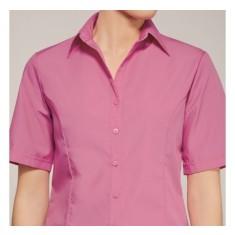 Disley LH123 Raspberry Non-Iron Short Sleeve Blouse - Size 12