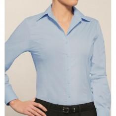 Disley LL131 Self Stripe Long Sleeve Blouse - Size 12