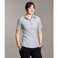 Disley MOIRA Classic Collar Oxford Women's Short Sleeve Blouse