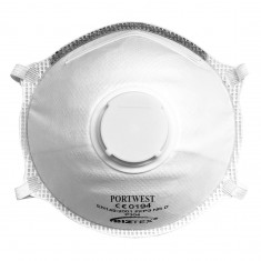 Portwest P304 - FFP3 Valved Dolomite Light Cup Respirator White (Box of 10)
