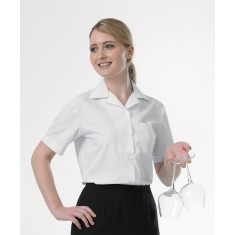 Bh902 Disley Williams Revere Collar Blouse Shortg Sleeve