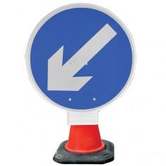 JSP HCA040-301-100 PortaCone™ Sign - Arrow Left (Pack of 5)