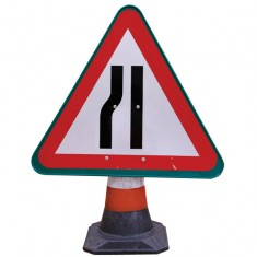 JSP HCA020-301-100 PortaCone™ Sign - Road Narrows Left (Pack of 5)
