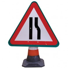 JSP HCA030-301-100 PortaCone™ Sign - Road Narrows Right (Pack of 5)