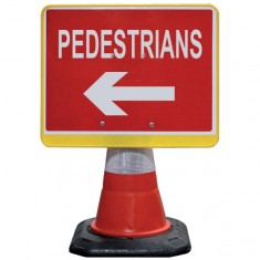 JSP HCA070-201-100 PortaCone Sign - Pedestrians Left (Pack of 5)