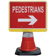 JSP HCA080-201-100 PortaCone™ Sign - Pedestrians Right (Pack of 5)