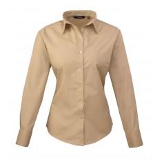 Premier PR300 Women's Poplin Long Sleeve Blouse